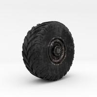 3d model wheel truck vehicle