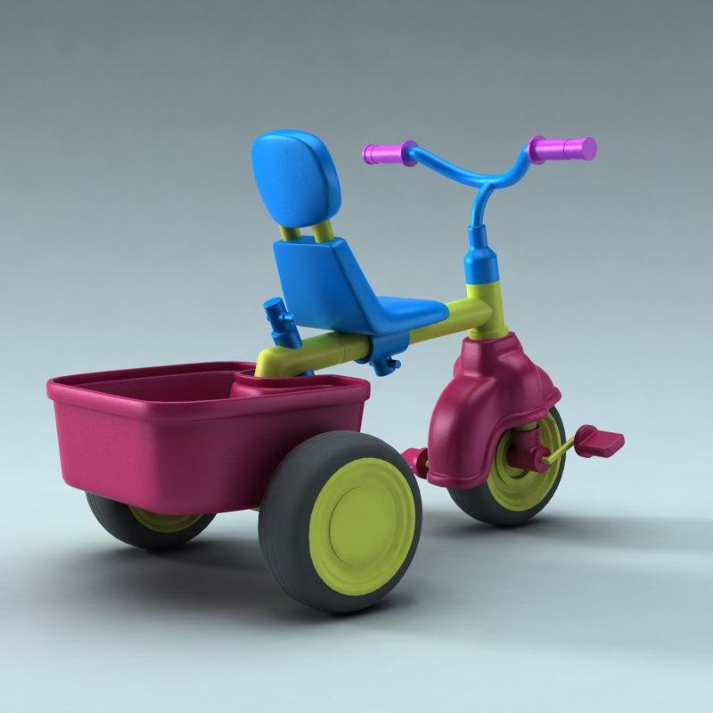 children bike 3d model