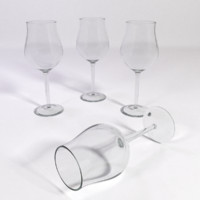 white wine glass tulip 3d 3ds