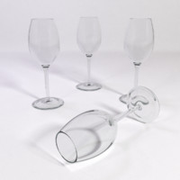 white wine glass sauternes 3d model