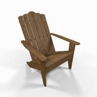 3ds max wooden pool chair