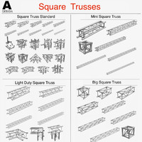 3d square light trusses 50