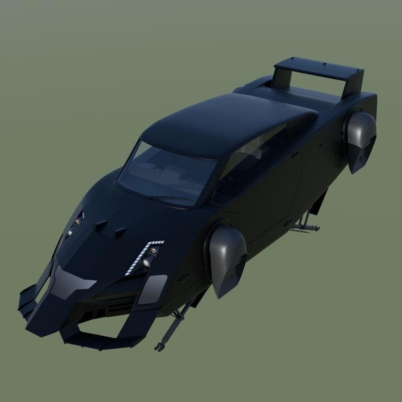 maya flying fictional car