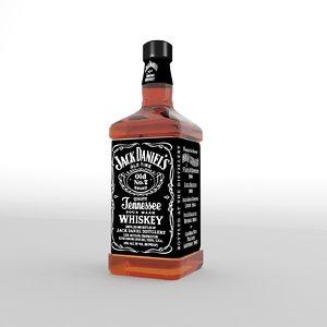 3d model jack daniel bottle