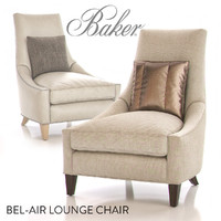 3d baker bel-air lounge chair