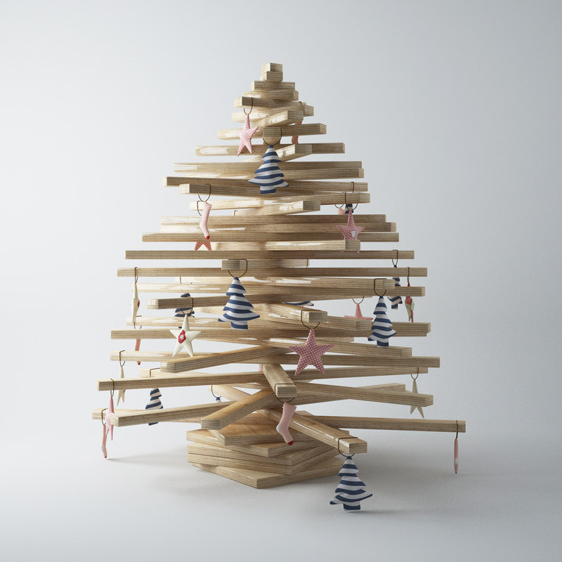 3d model of christmas tree