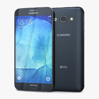 samsung galaxy a8 midnight 3d model