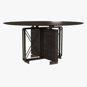 table monaco dining 3d 3ds