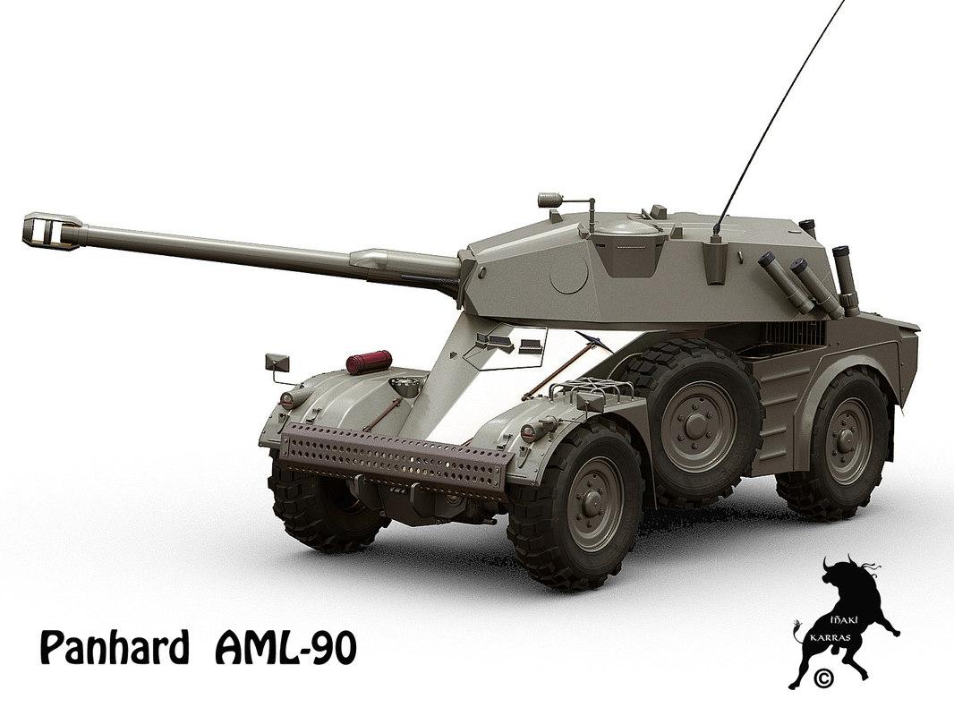 panhard aml 3d model