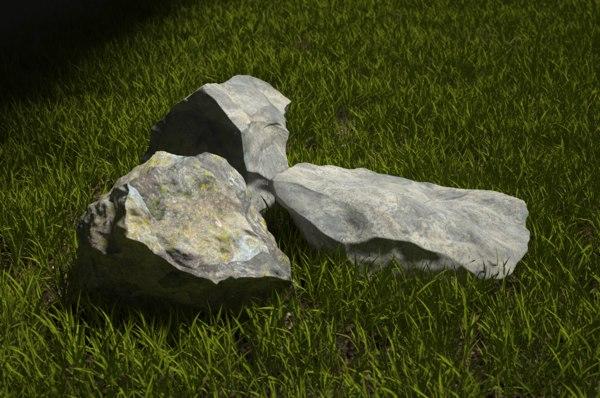 3d model rocks modeled