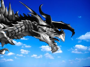 dragon alduin skyrim 3d max