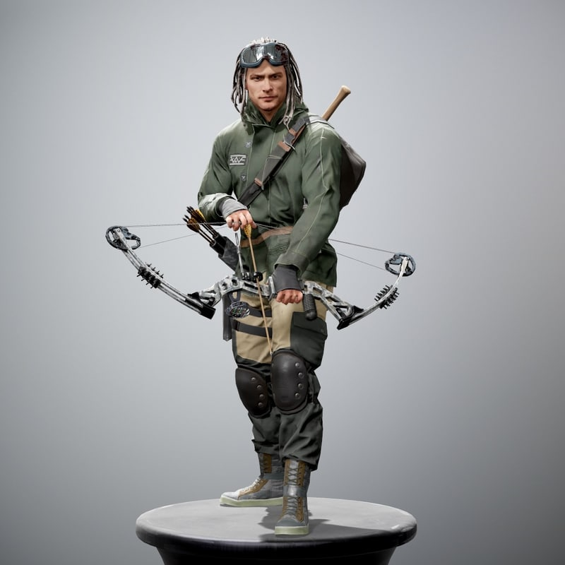 3d model survivor man character