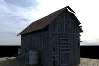 3d model old barn