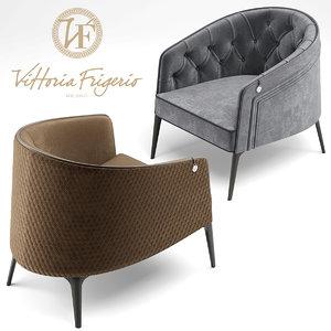 3d armchair vittoria frigerio
