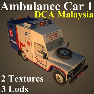 ambulance car dca 3d max