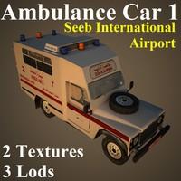 3d ambulance car sia