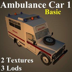 3d max ambulance car basic