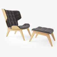 Mammoth Chair and Ottoman by Norr 11