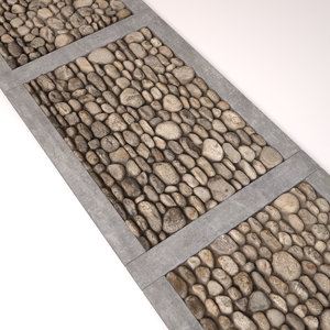 3d cobblestone stone model