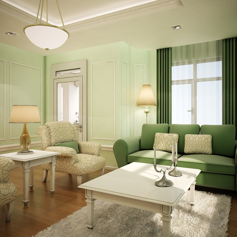 living room interior 3d model