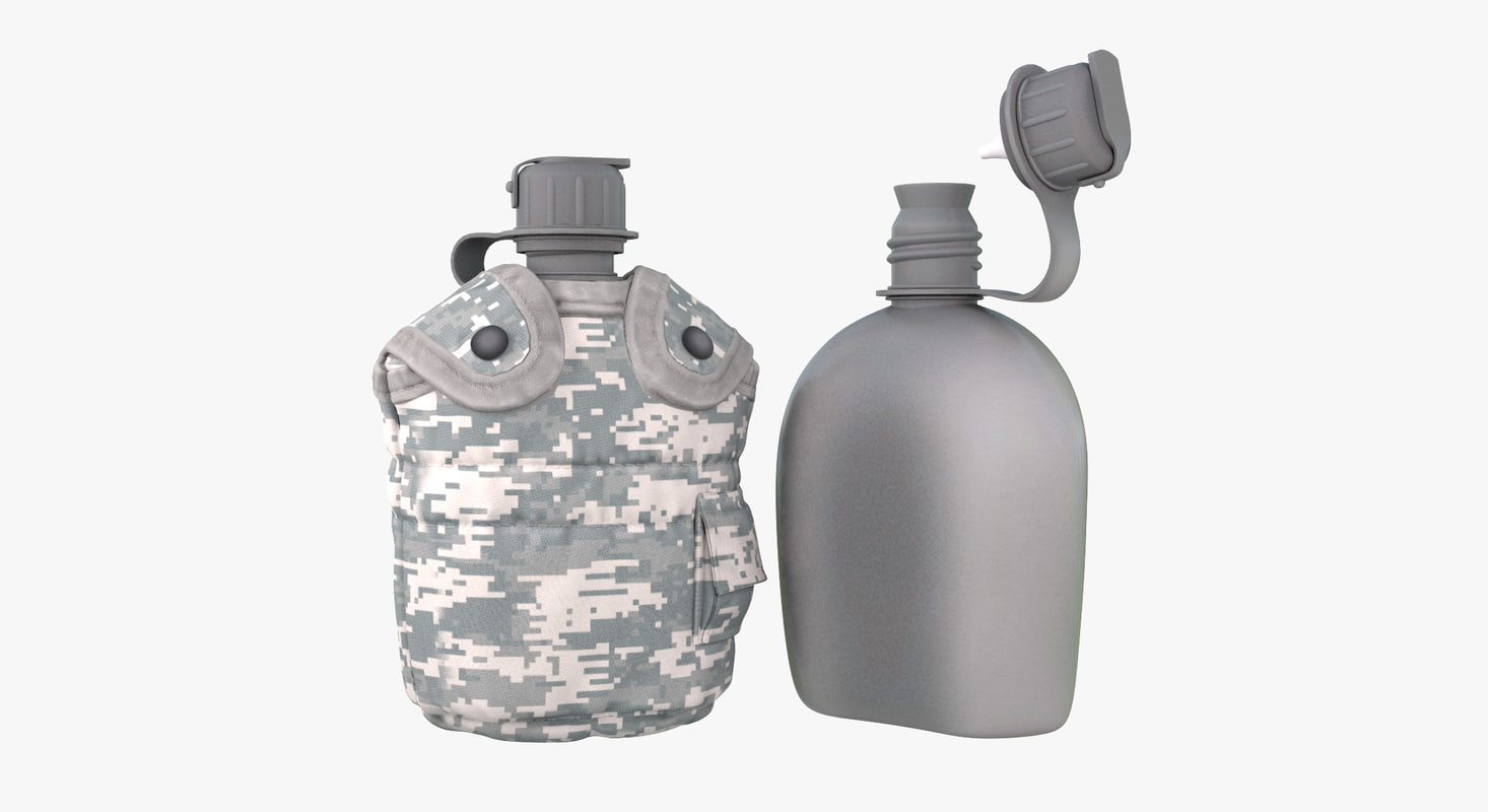 digital military canteen 2 obj