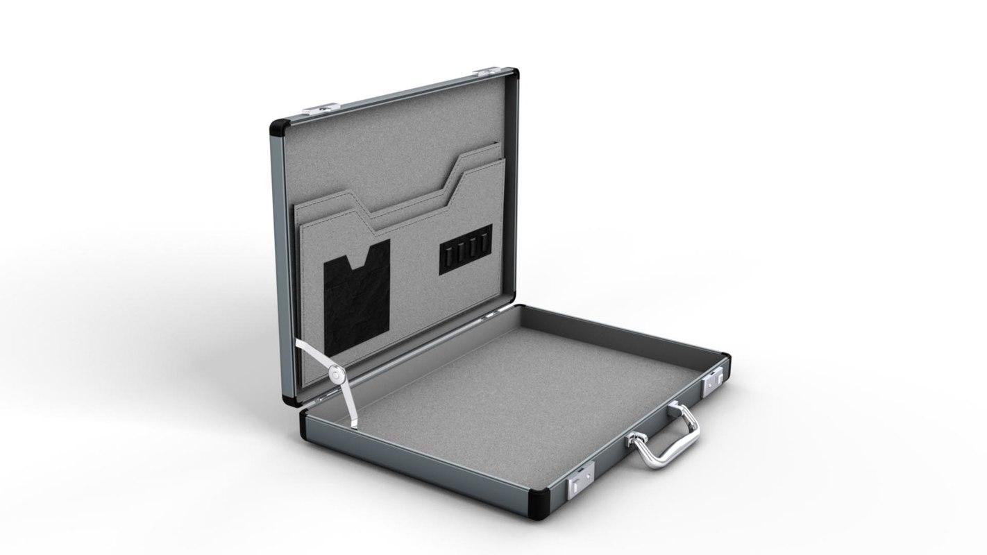 3d model slim briefcase