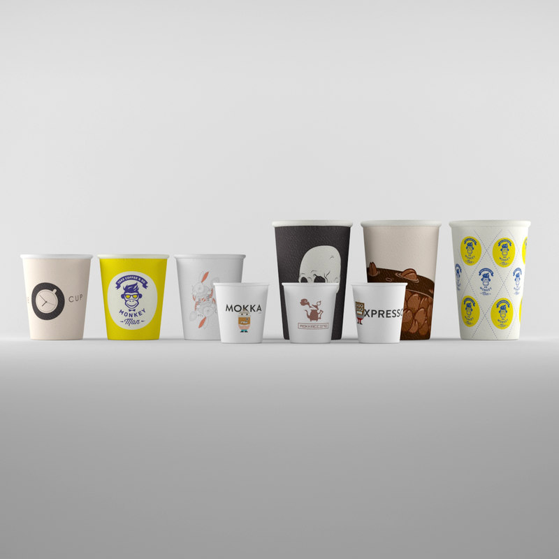 paper cup coffee 3d max