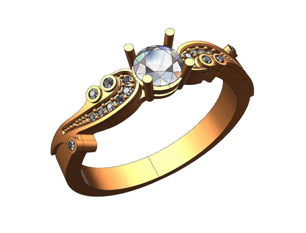 ring solitaire s 3d model