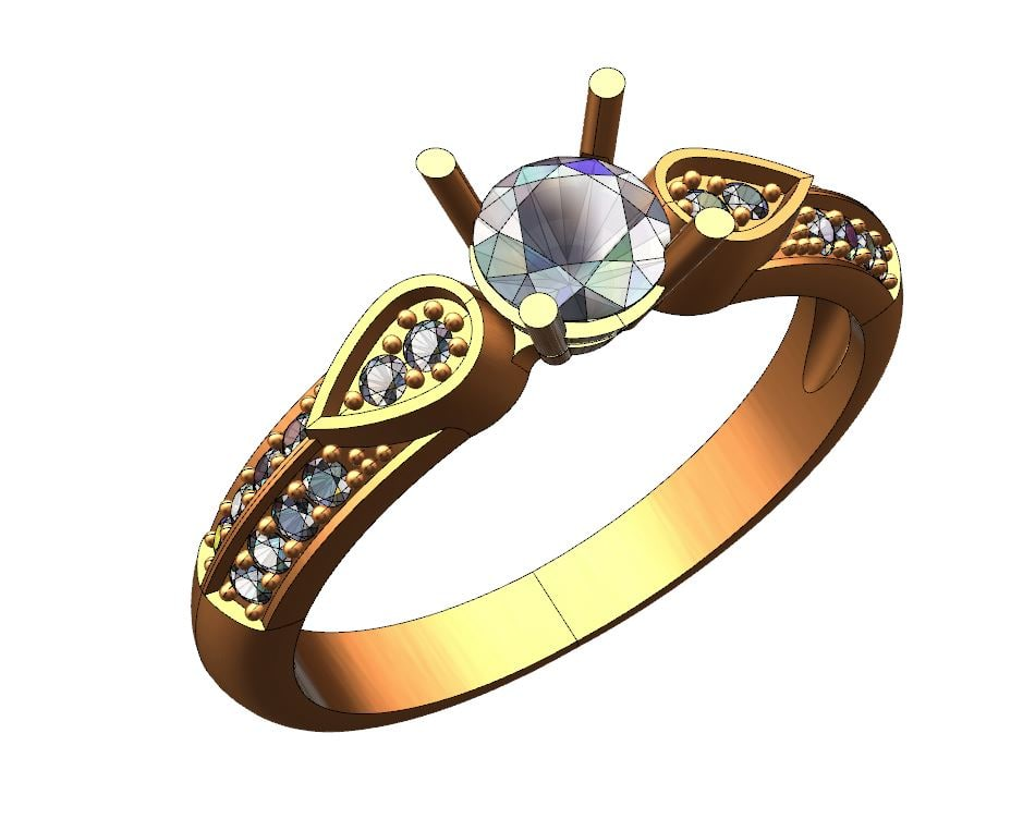 3d model ring solitaire engagement