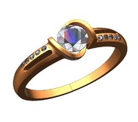 3d ring solitaire engagement