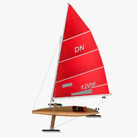 3d iceboat boat sail model