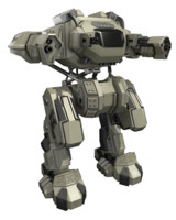 rigged battle mech 3d model