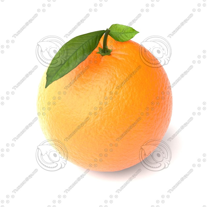 3d orange fruit