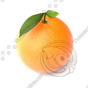 3d orange fruit