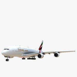3d emirates airbus a380