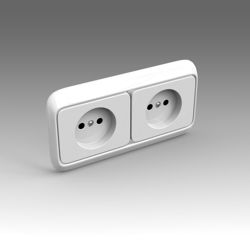 3ds max electrical outlet