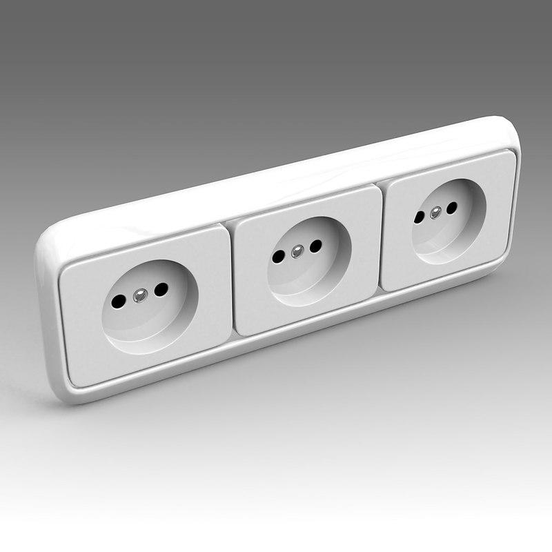 3d electrical outlet model