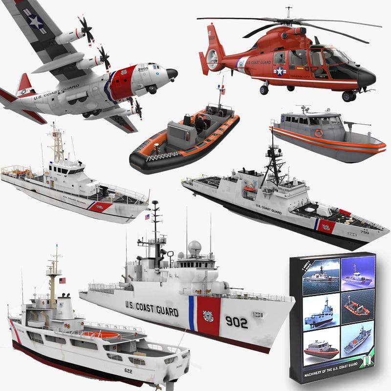 coast guard 3d model