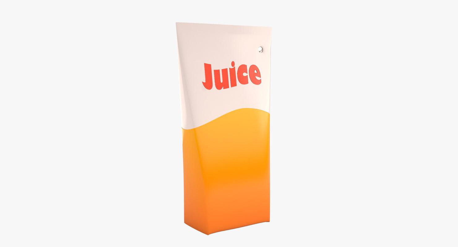 3d model of juice carton