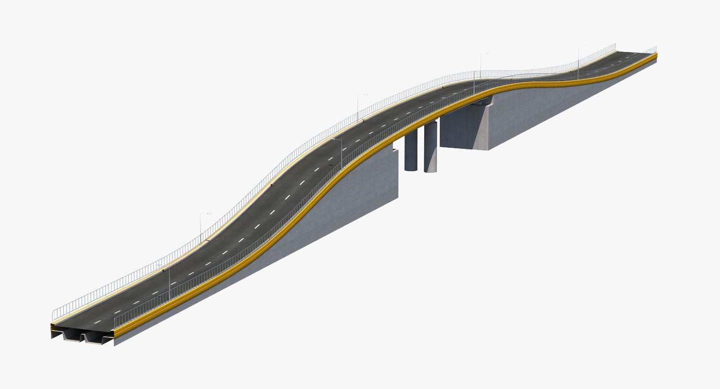 interchange road bridge 3d max