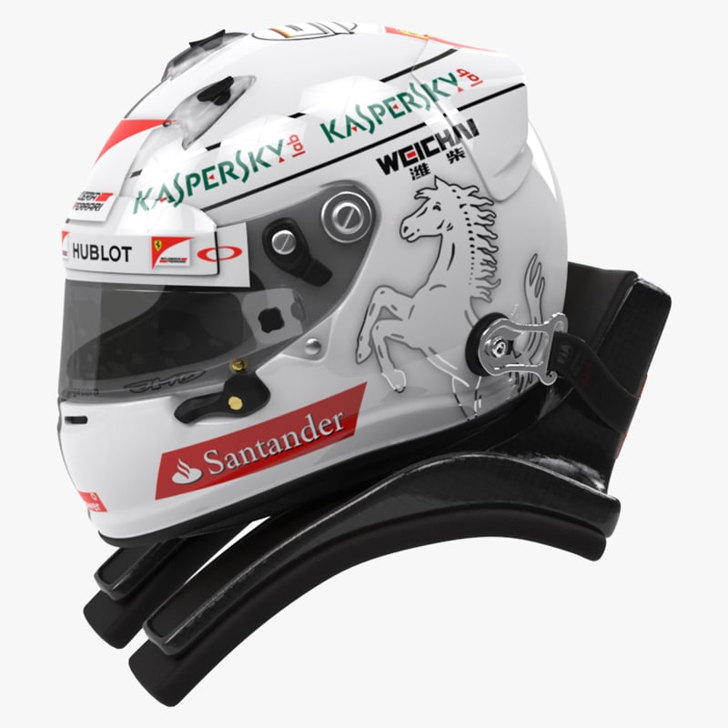racing helmet sebastian vettel 3d model