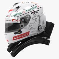 Sebastian Vettel 2015 style Racing helmet