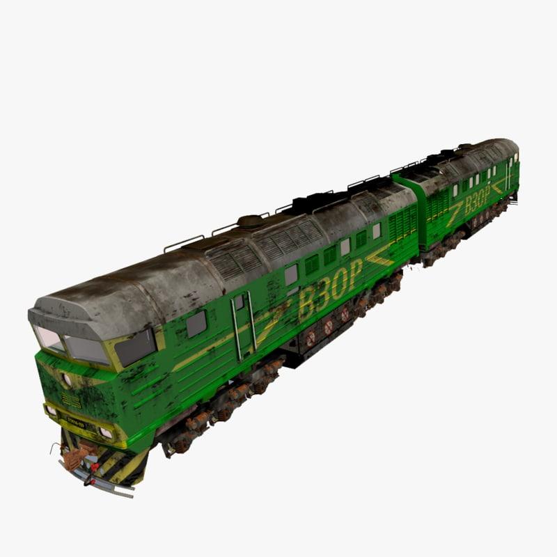 3d model of soviet diesel locomotive 2te116