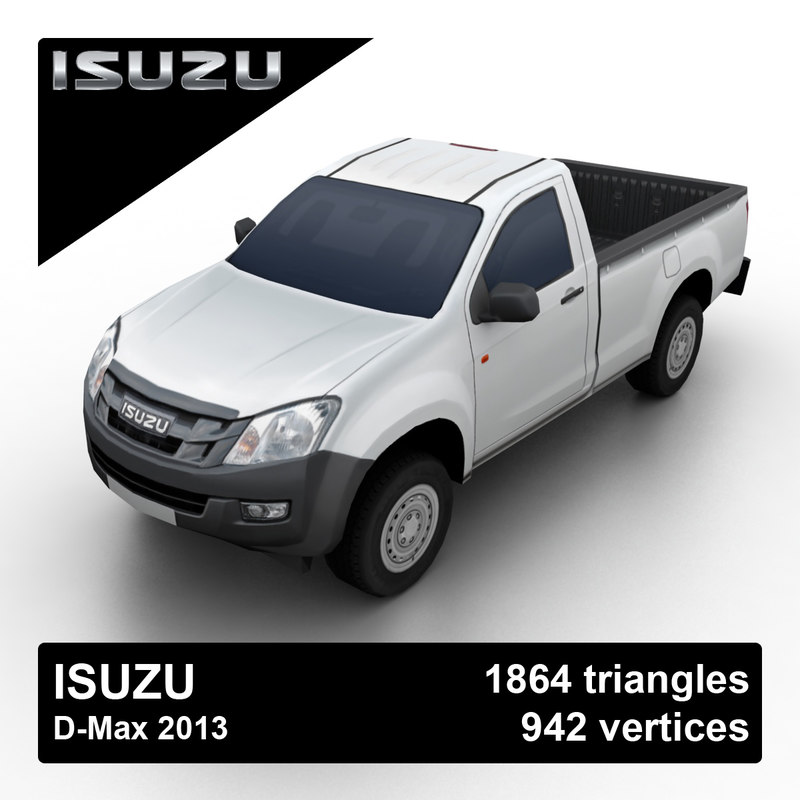 3d model isuzu d-max 2013 pickup truck