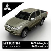 3d l200 triton 2015 pickup truck model