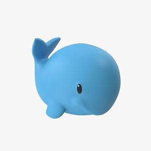 rubber toy whale 3d model