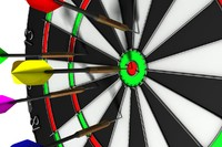 3d darts dartboard