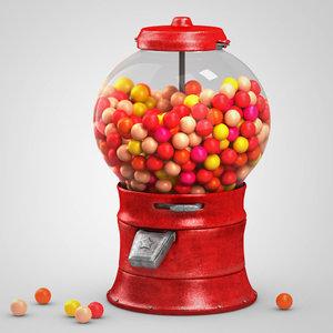 gumball machine gum obj
