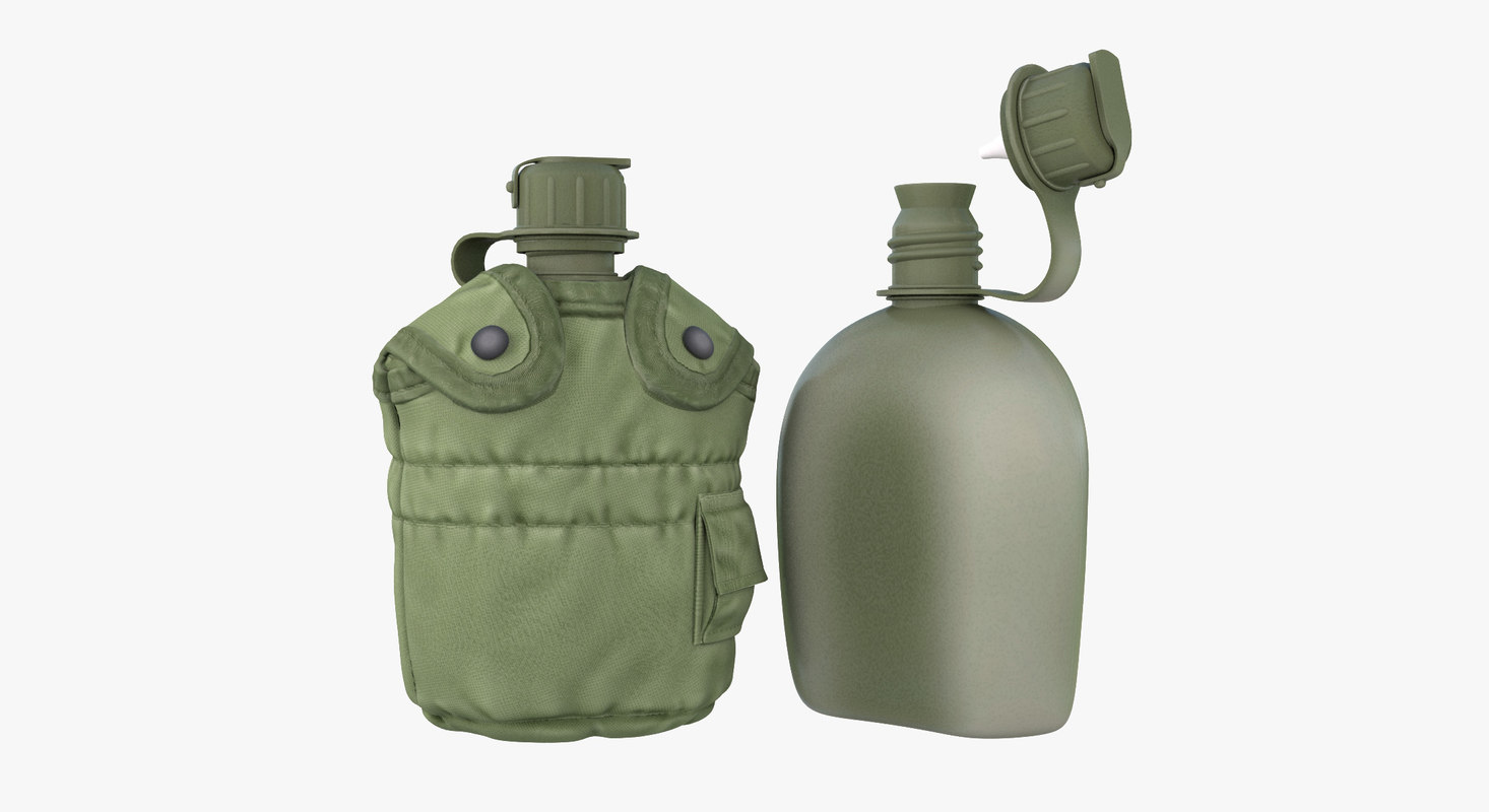 3d model military canteen 7 containing