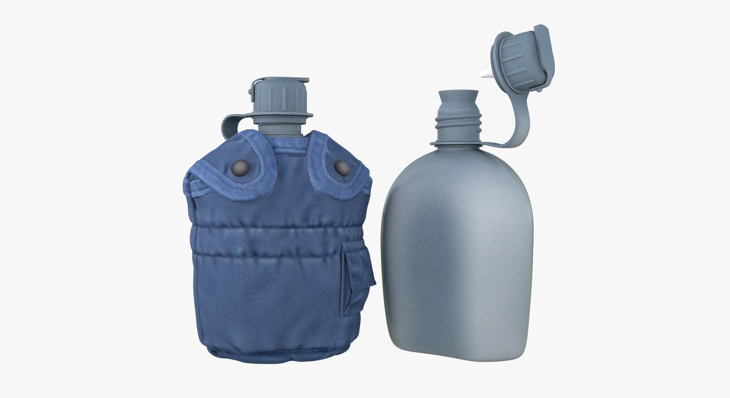 3d model military canteen 8